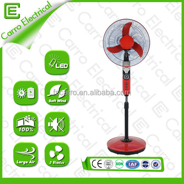 16 inch 35 watt stand electric fan with battery CE-12V16H with remote control/usb phone charger