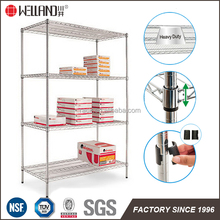 NSF Approval 4 Tiers Adjustable Chrome Metal Supermarket Store Shelf