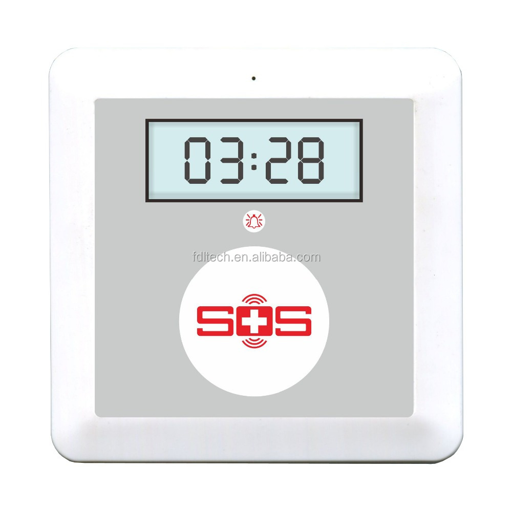 TOP LCD Display SOS alarm system,Gsm Senior telecare telehealth SOS Call alarm box with pushing to talk Healthcare Supply