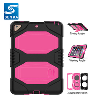 Stylish Genuine Rugged Shockproof Tablet Back Silicone Cover for iPad mini 3