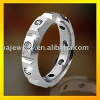 women titanium stainless steel fashion rings jewellery with CZ paypal acceptable