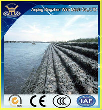 Galvanized gabion basket / galvanized gabion / anping hexagonal mesh with iso 9001