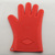 Heat resistant silicone bbq gloves with five fingers