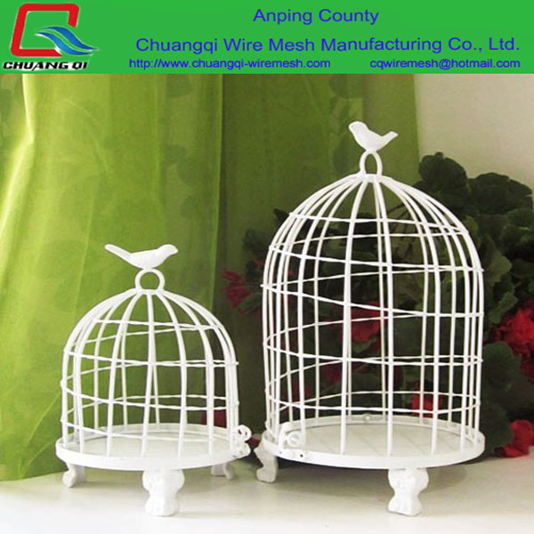 Round wire mesh pet accessory canary bird cage