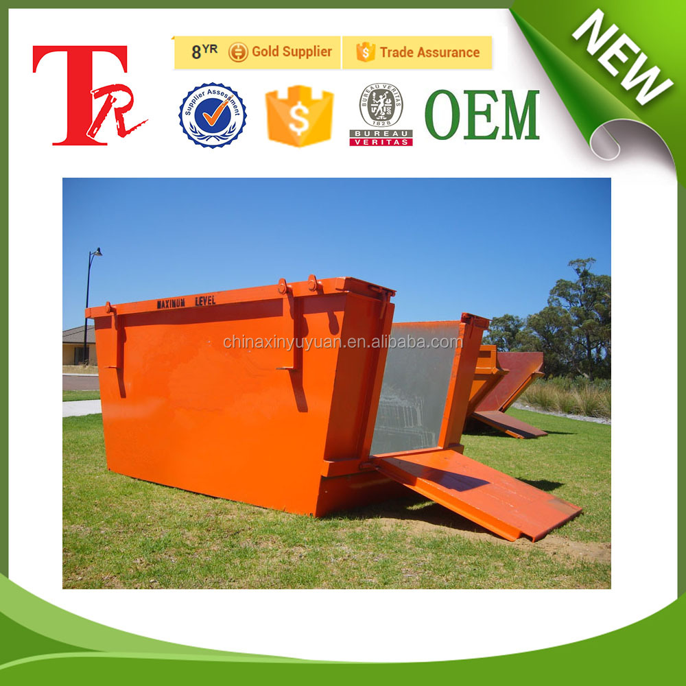 6 -12 cubic Heavy load capacity skip lift bins with doors for general waste recycle for sale in china factory