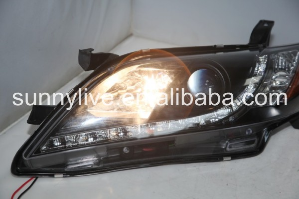 Camry LED Head Light Black Color R8 style 2007-2009 Year Yellow Reflector SN
