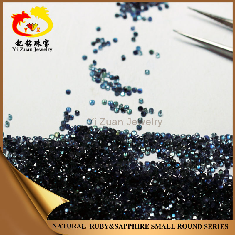 Wholesale Natural rough Blue Sapphire round cut