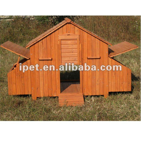 7FT Large Wooden Outdoor Chicken Cage with 2 Nesting Box without Run