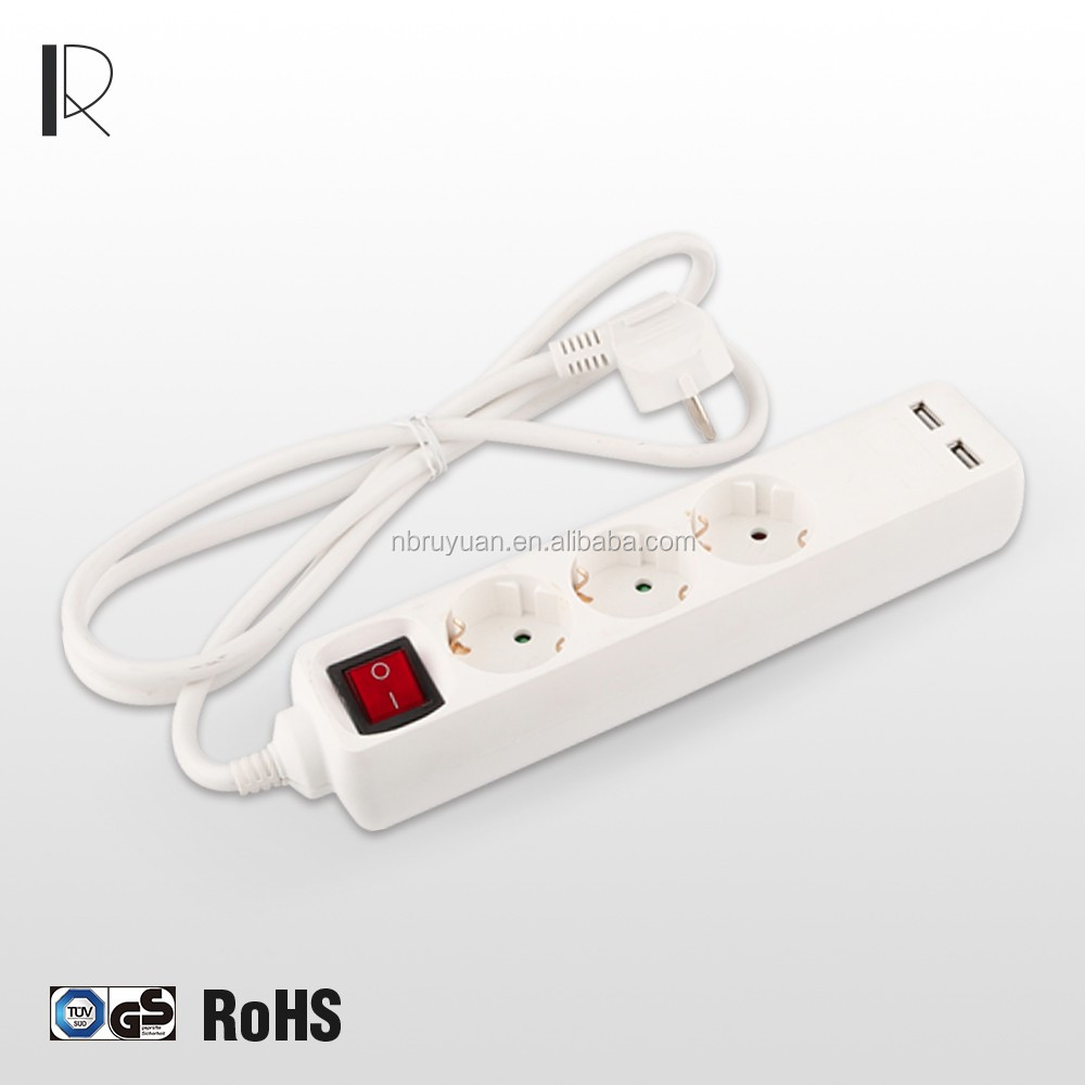 1010020 Multi Function Electric power strip extension Socket with USB