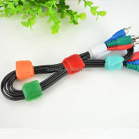 hot sale high quality cable tidy strong adhensive colorful magic zip ties
