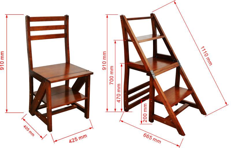 Деревянные стул-стремянки своими руками