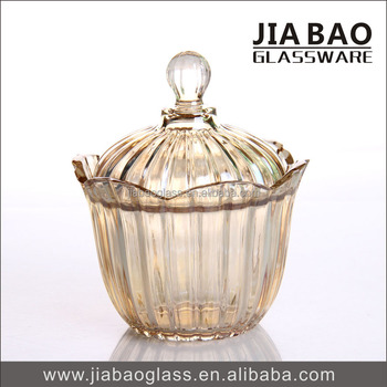 2016 Luxury Colored Crystal Glass Candy Jar