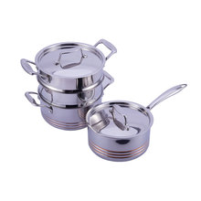professional 5-ply copper all clad stainless steel cookware set