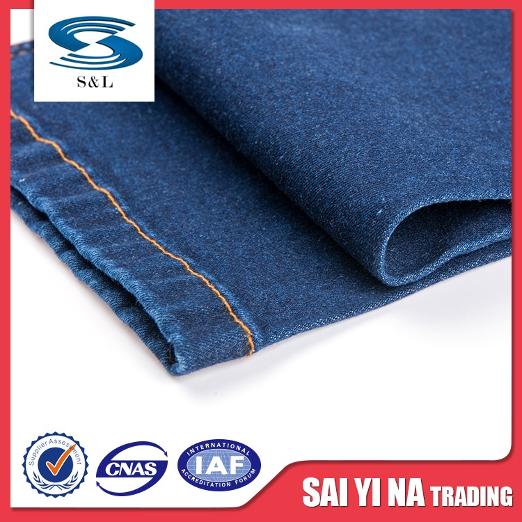 Hot sale twill jeans poly cotton dyed denim roll fabric price