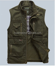 100% COTTON FISH VEST with PATCHES CHINA MANUFACTURER OEM