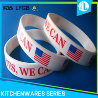 Fashion pretty design sport wristband custom silicone bracelet