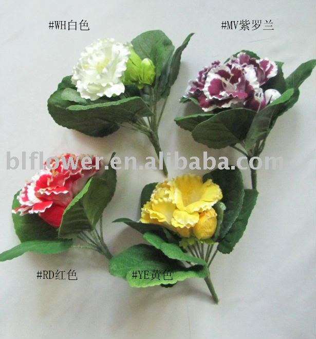 artificial flower bouquet gloxinia YL229