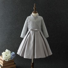 wholesale price winter clothing long sleeve party <strong>girl's</strong> <strong>dress</strong> lace flowers winter baby <strong>dress</strong>