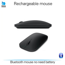 Good quality black color OEM bluetooth wireless rechargeable mouse