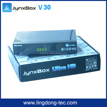wifi digital satellite receiver Jynxbox ultra hd v30 V2 V3 with build in jb200 jyazbox ultra hd v23 for North America