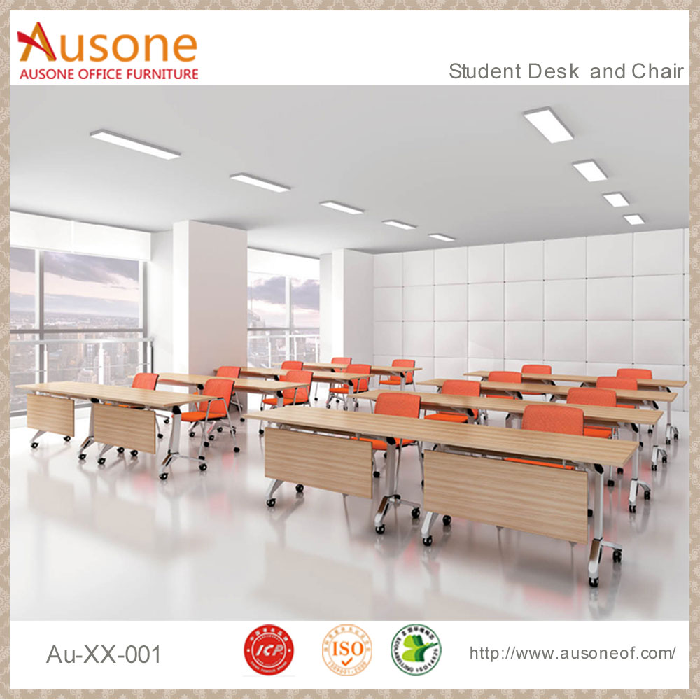 High quality wooden elementary modern school desk and chair