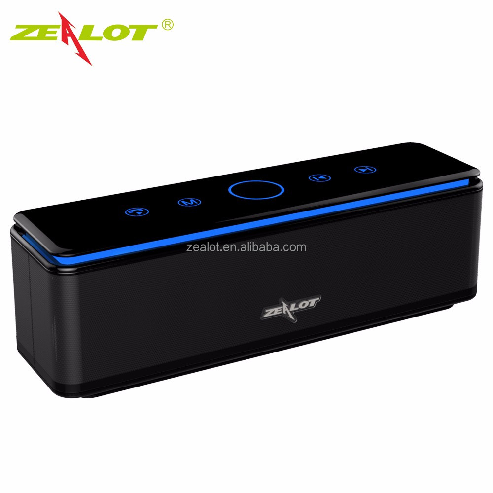 Promotion Stereo Blue Light Touch Panel Wireless Bluetooth Speaker with TF Card