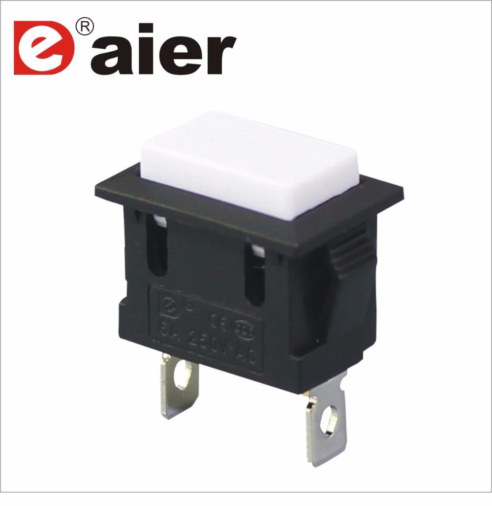 2pin Latching On Off Black Flashlight Push Button Switch - Buy Push ...