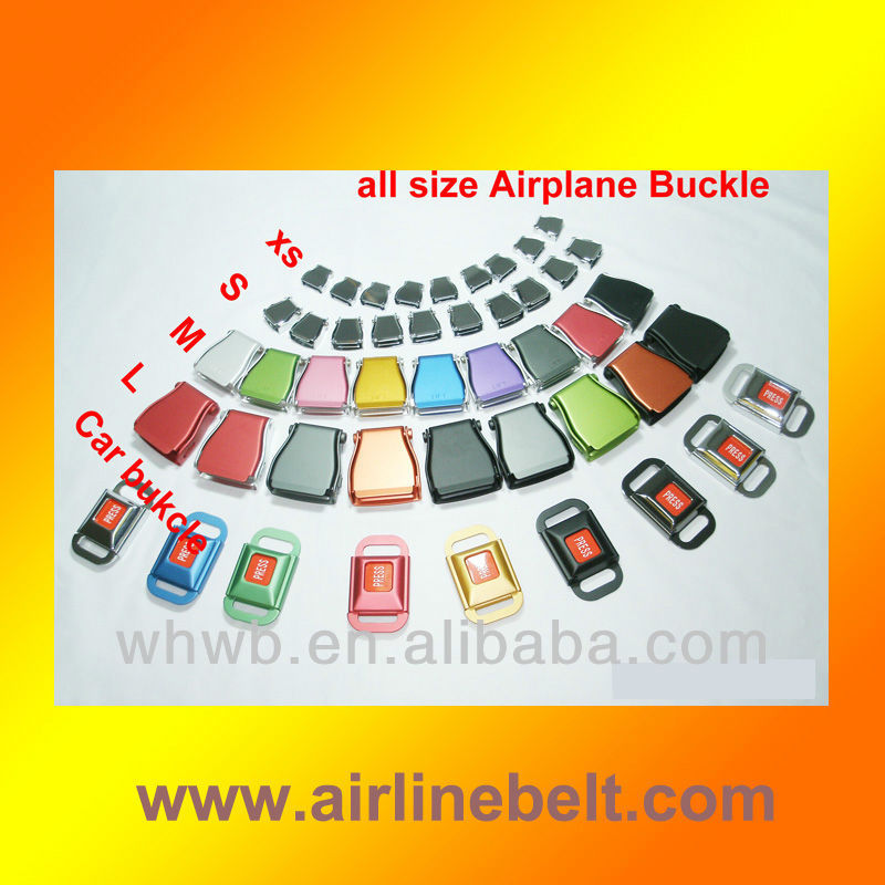 Airplane seatbelt roll pin belt buckle