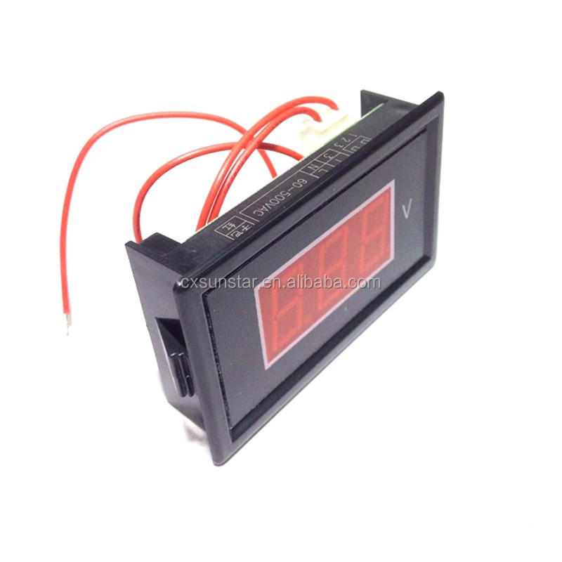 Mini Digital Voltmeter AC 60V-500V Volt LED Panel Gauge Tester Red