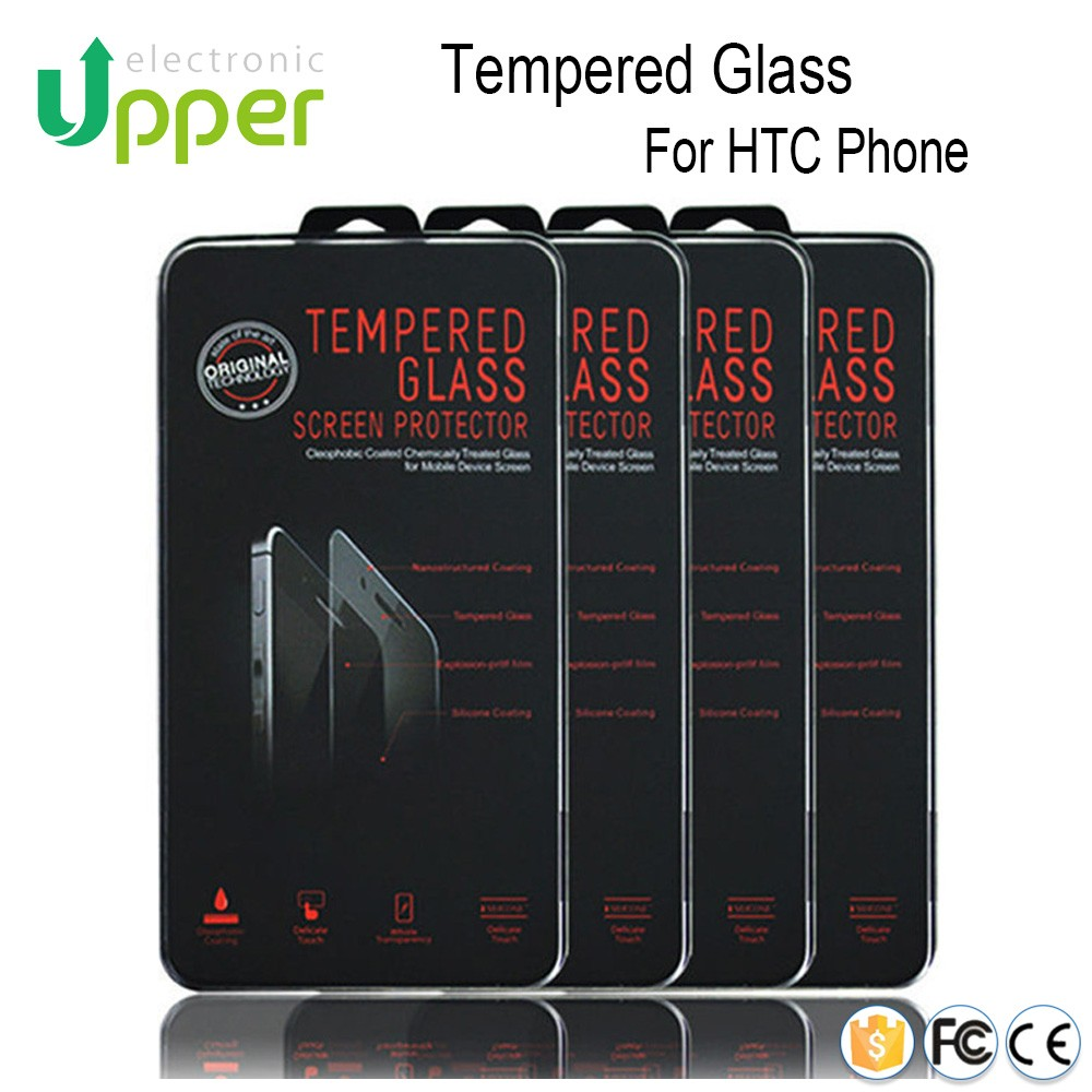 Mobile phone glass 0.26mm 2.5d tempered glass screen protector for htc evo 4g desire 709d hd2 htc one m7 htc 826