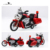 Christmas gift lagopus Police Motorcycles Zinc Alloy Mini Model Car Sound&light Pull Back Boys Playing Toys Vehicles toy