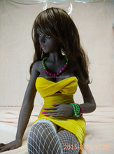 2015 New Black Sex Doll For Man 132 cm 15 KG Africa Yong Women TPR Mini Sex Doll
