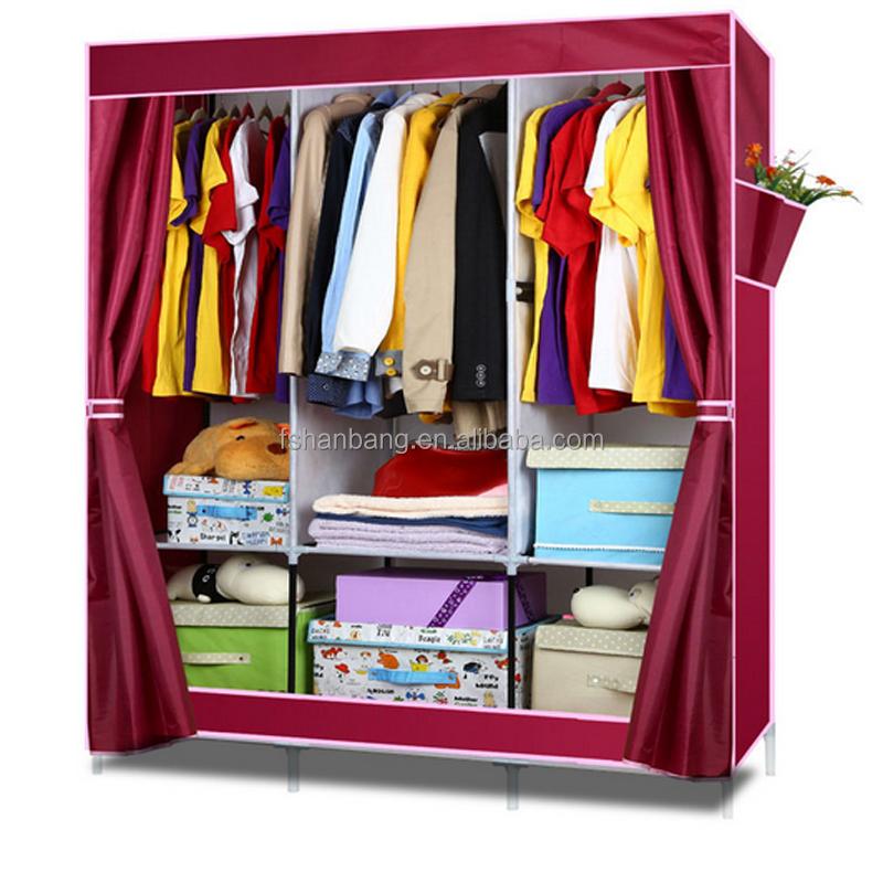 portable placard organisateur de stockage avec tag res armoire v tements rack autres meubles. Black Bedroom Furniture Sets. Home Design Ideas