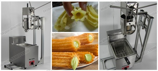 Famous spanish churros making machine with fryer