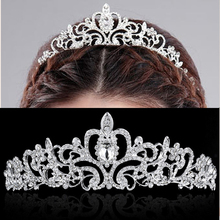 Europe and the United States Noble Luxury Crown For Bride Wedding Diamond Headband Baroque Hair Crown Bride Headdress