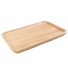 Hand-made kitchen wares Tray Wooden Service <strong>Plate</strong> Solid Rubber Wood <strong>Plate</strong>