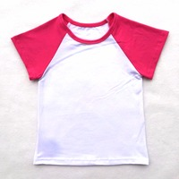High Quality 2017 New Arrival Baby Multicolor 100% Cotton Raglan T shirt Blank Summer Wholesale