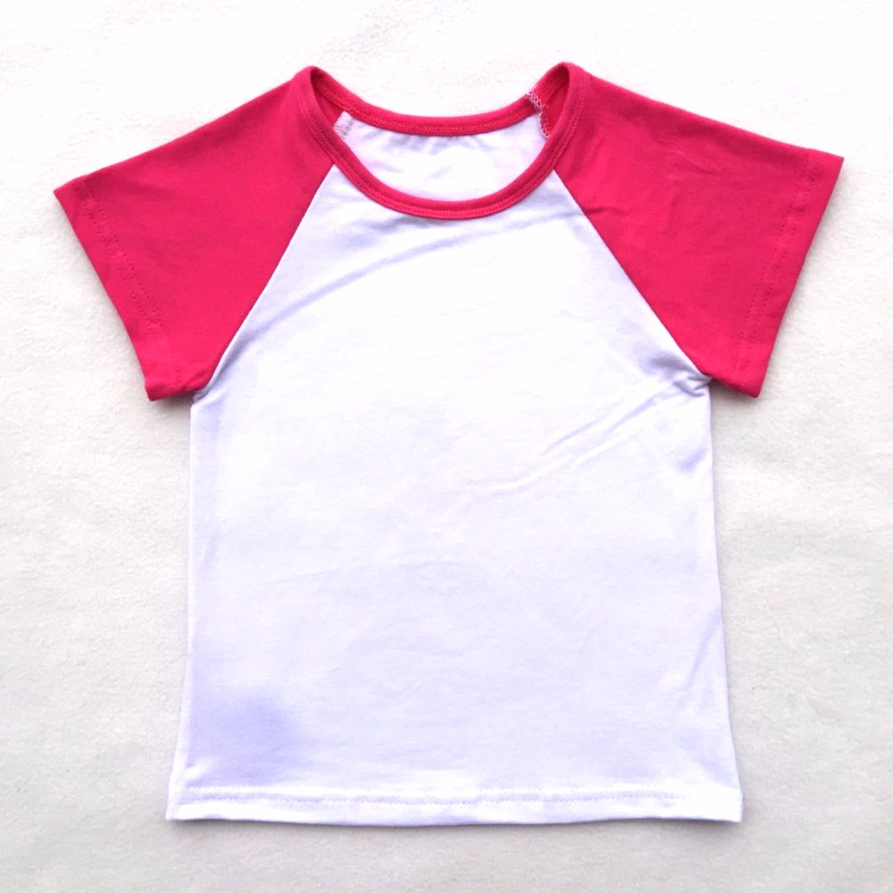 High Quality 2018 New Arrival Baby Multicolor 100% Cotton Raglan T shirt Blank Summer Wholesale