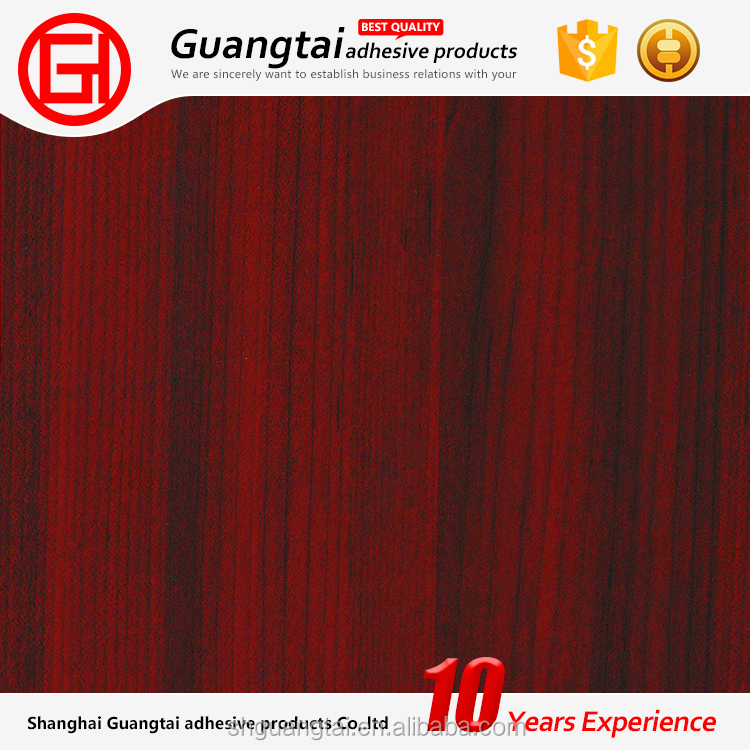 High quality pvc wood grain self adhesive furniture decorative transfers foil