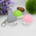 custom made small plastic keychain/little hedgehog nice keychians OEM factory