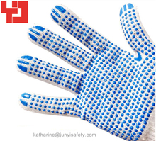 Single Side PVC Dotted Cotton Gloves
