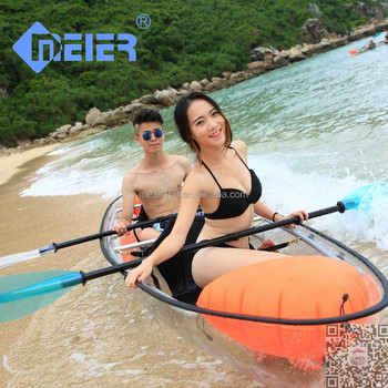 Transparent professional whitewater racing kayak