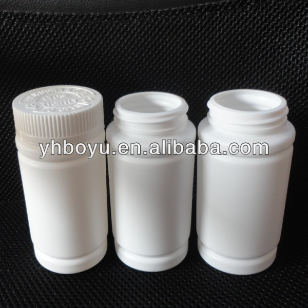 200ml PE plastic Capsule Bottles, Empty Pharmaceutical Tablet/Pill Bottles/Container, White Plastic Pill Bottle