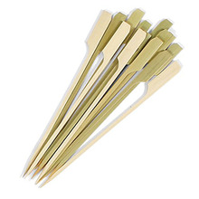 Bamboo Paddle Barbeque Grill Skewer Pick 10 inch