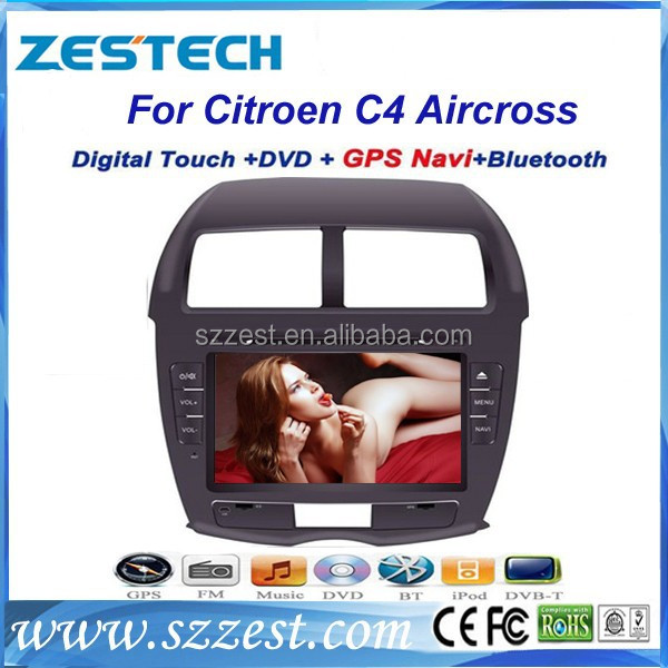 ZESTECH Digital car dvd for Citroen C4 AIRCROSS with touch screen gps Dual Zone,Digital Panel, RDS,Steering Wheel