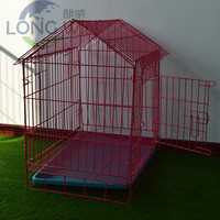 Foldable strong large metal parrot bird cage