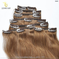 Best Selling 2015 Full Cuticles Remy Double Weft 100% Human 36 inch hair extensions clip in