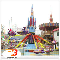 Big fun! Children amusement rotating electric self control plane rides for sale