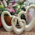 wholesale Stylish Silver Tile Mosaic heart Decoration Tiled Centre, large