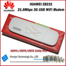 2014 New Arrival Original Unlock HSPA+ 21.6Mbps HUAWEI E8231 3G WiFi USB Dongle Support 10 WiFi USER And Support 900/2100MHz